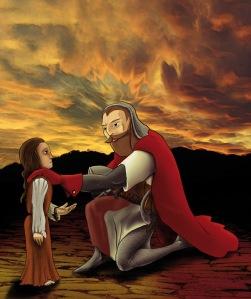 El Cid con la niña de nueve años