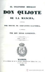 Portada de la edición del Quijote por Diego Clemencín