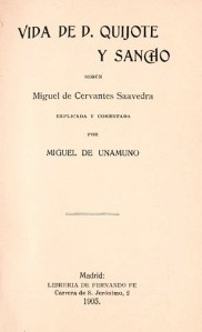 Vida de don Quijote y Sancho, de Unamuno
