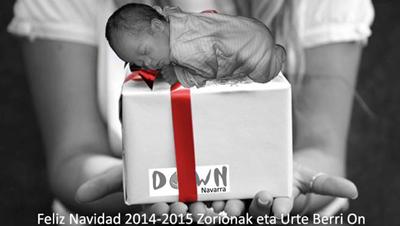 Postal de la Asociación Síndrome de Down Navarra 2014