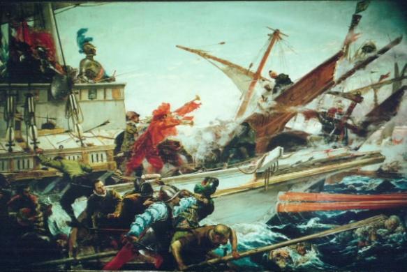Combate naval de Lepanto (Palacio del Senado, Madrid)