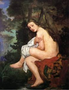 Ninfa sorprendida, Manet