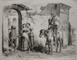 Don Quijote llega a la venta