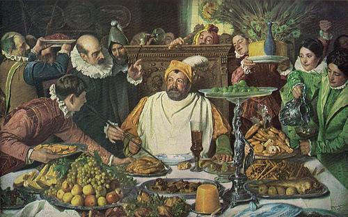 José Moreno Carbonero, Festín de Sancho Panza en la Ínsula Barataria