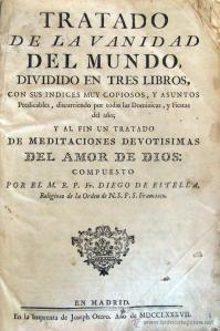 Tratado de la vanidad del mundo, de fray Diego de Estella