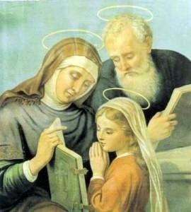 Santa Ana y San Joaquín con la Virgen María