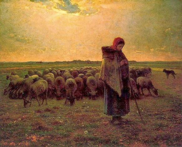 millet-pastora-con-su-rebaño-1893