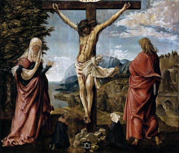Cristo en la Cruz entre María y San Juan