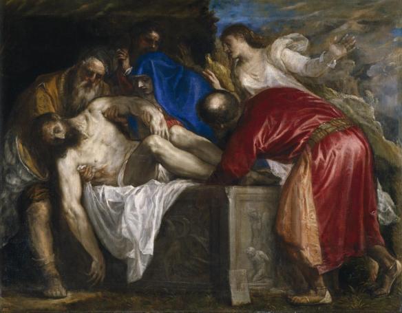 Entierro de Cristo, de Tiziano
