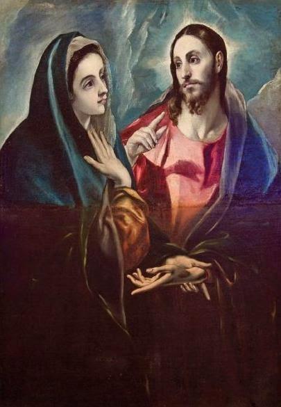 La Despedida de Cristo de su Madre de El Greco