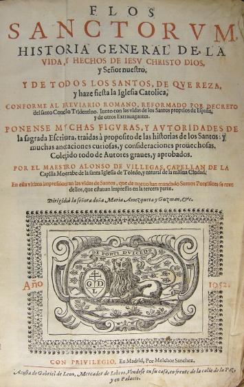Flos Sanctorum, de Alonso de Villegas
