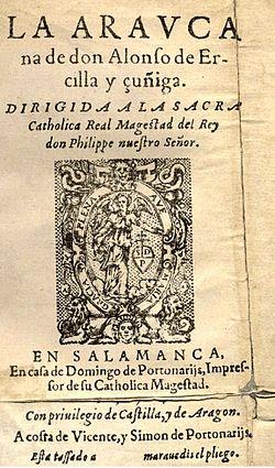 La Araucana, de Alonso de Ercilla