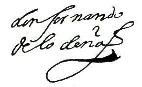 Firma de Fernando de Lodeña