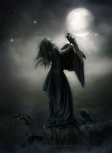 Luna, cuervo, muerte