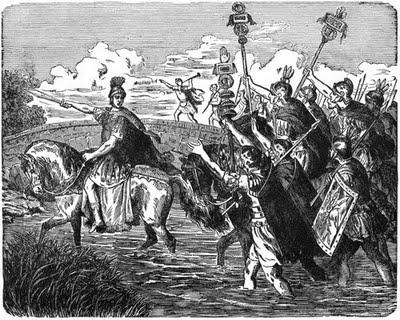 Cesar cruzando el Rubicón
