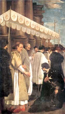 Procesión del Santísimo Sacramento, de Guido Cagnacci