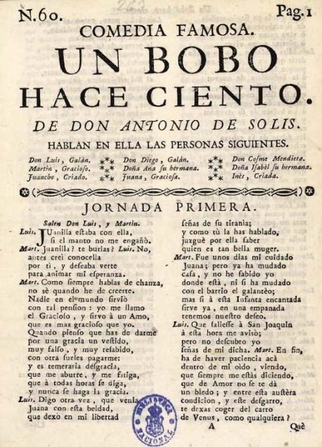 Un bobo hace ciento, de Antonio de Solís