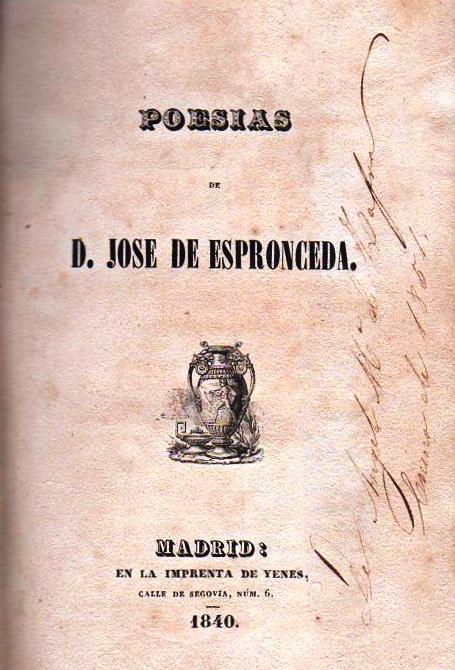 Poesías, de José de Espronceda