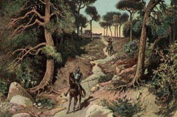 Don Quijote en el bosque