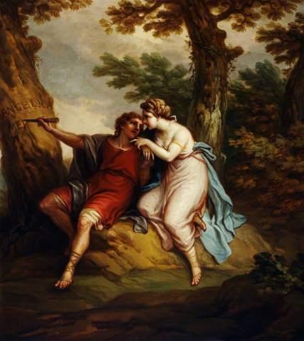 Angélica y Medoro, de Antonio Zucchi
