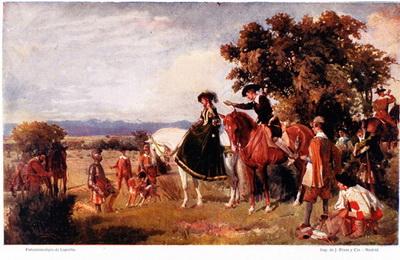 Encuentro de Don Quijote con los Duques de Villahermosa