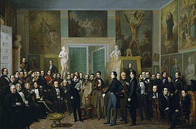 Los poetas contemporáneos (1846), de Antonio María Esquivel