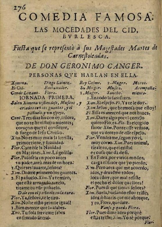 Las mocedades del Cid, de Cáncer y Velasco
