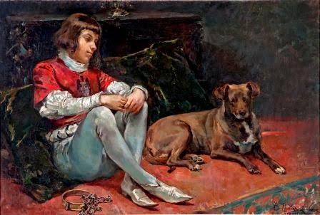 MuñozLucena_Un paje y un perro de caza