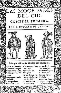 Las mocedades del Cid, de Guillén de Castro