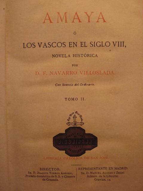 Amaya, de Francisco Navarro Villoslada