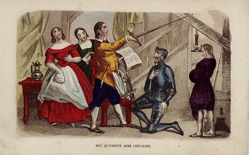 Don Quijote es armado caballero