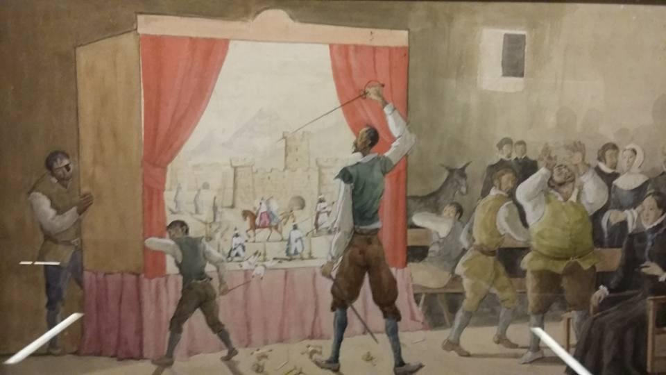 Don Quijote ante el retablo de maese Pedro