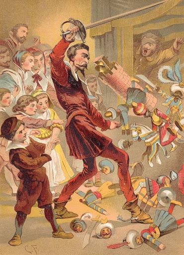 Don Quijote arremete contra el retablo de maese Pedro