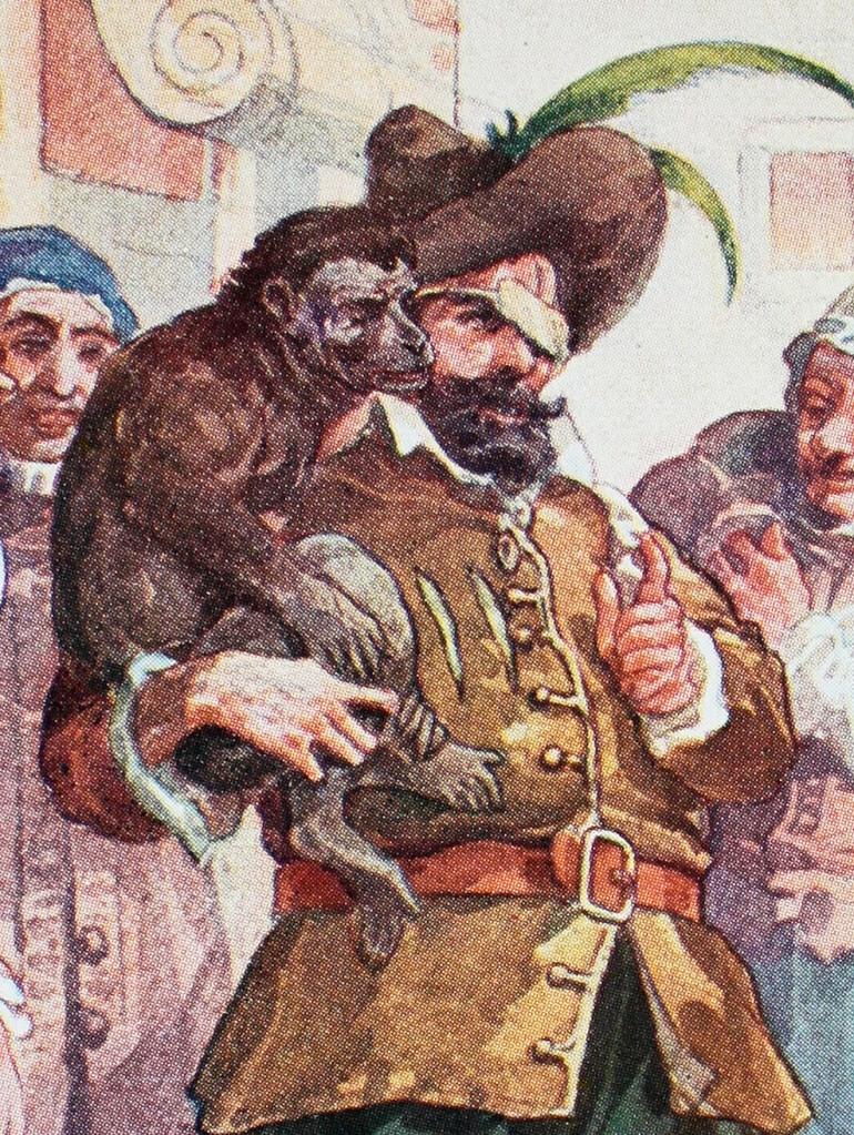 Mese Pedro y su mono adivino