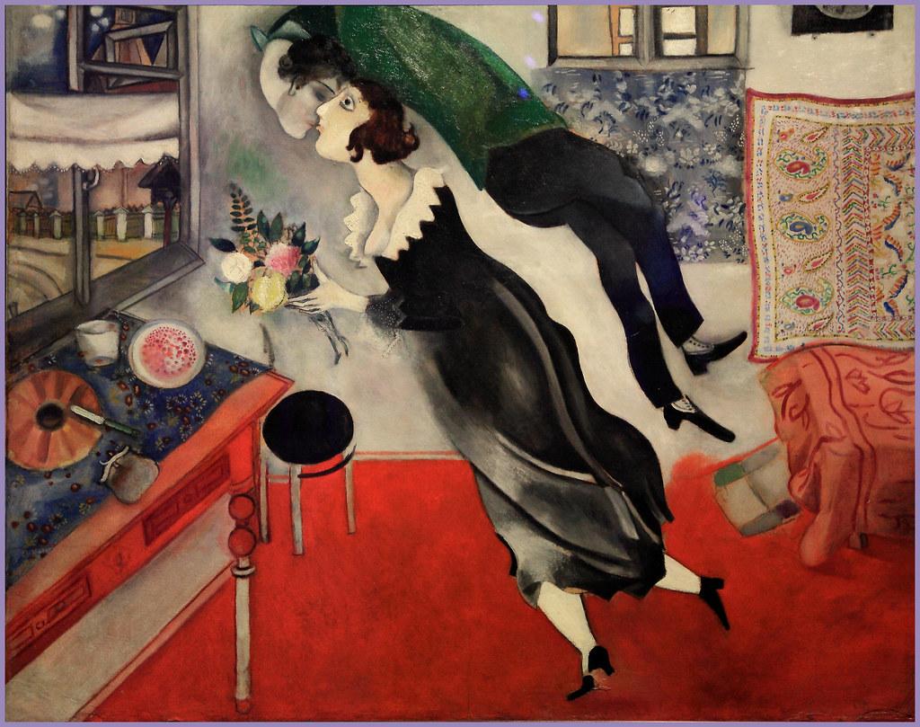 «L'anniversaire», de Marc Chagall