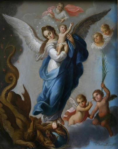 Virgen del Apocalipsis, de Andrés López (Museo Andrés Blaisten, Ciudad de México)